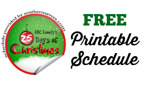 abc family 25 Days of Christmas printable schedule