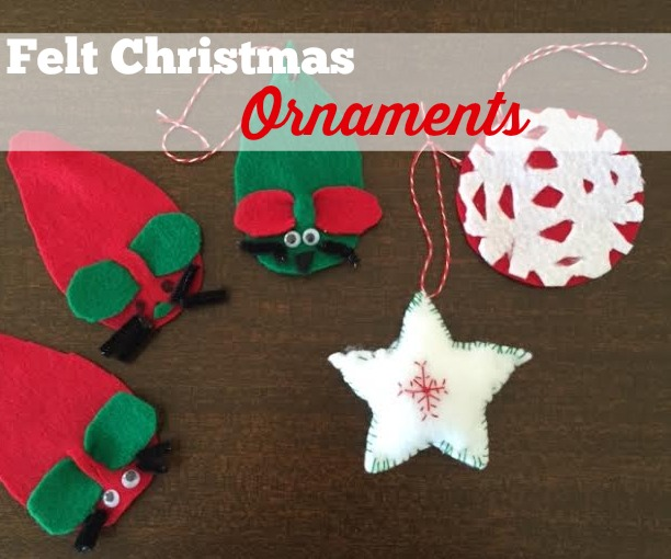 diy felt ornaments