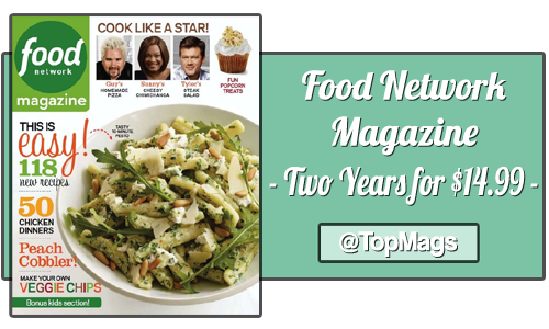 food network magazine subscription copy