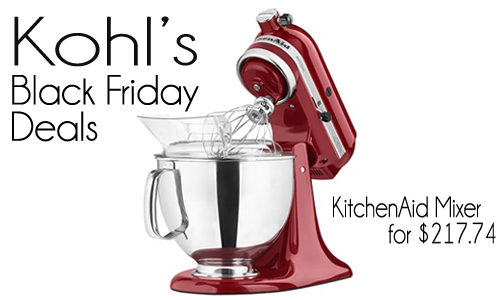 kohl 39 s black friday deals kitchenaid stand mixers more southern savers. Black Bedroom Furniture Sets. Home Design Ideas