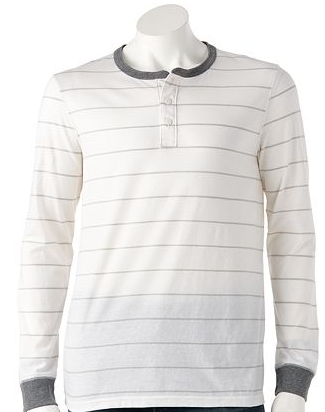 kohls striped henley mens