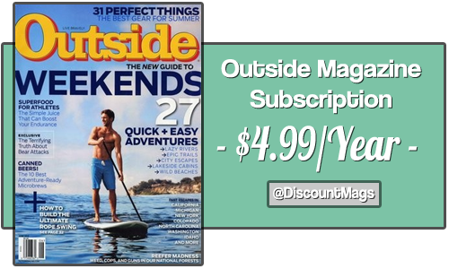 outside magazine subscription 499