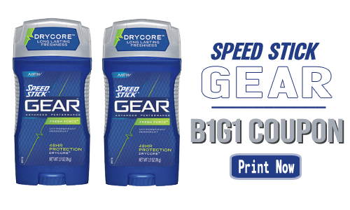 speed stick coupon gear b1g1