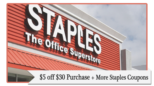 staples 5 off 30 coupon
