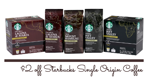 starbucks single origin coffee coupon
