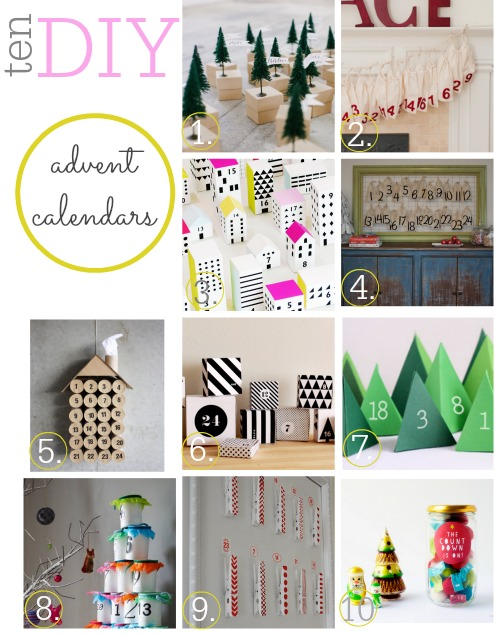 10 DIY Advent Calendar Ideas