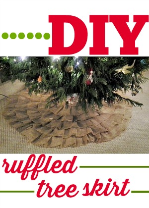 DIY Ruffled Tree Skirt