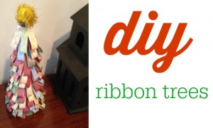 DIY ribbon trees
