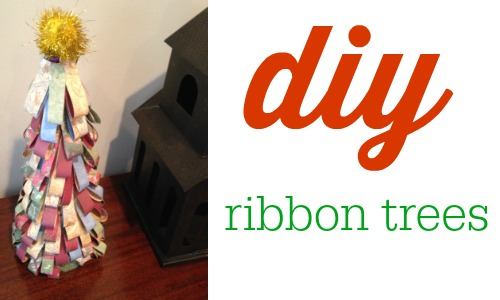 DIY ribbon trees