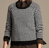 Textured Stripe Merino Wool Pullover banana republic