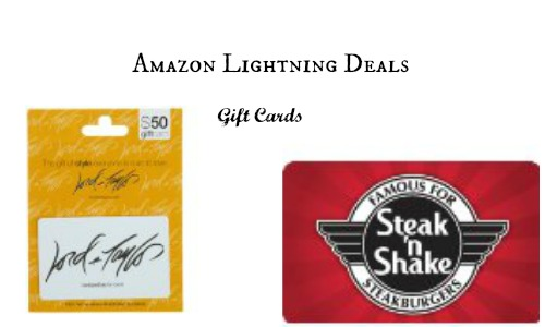 amazon lightning deals- gift cards