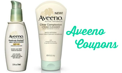 Aveeno Coupons | $6.99 Moisturizer & Cleanser At Publix