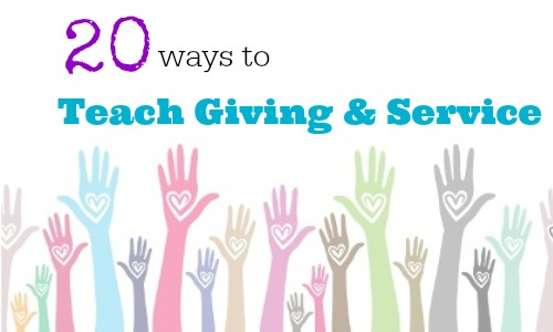 encourage giving and service