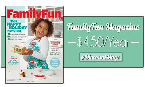 familyfun magazine 450 a year