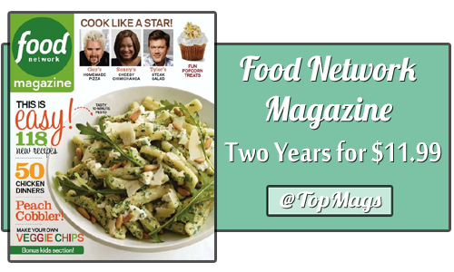 food network magazine two years for 1199