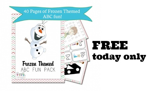 free frozen themed abc and math packet