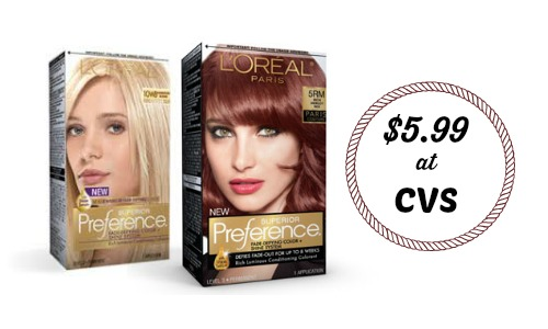 photograph relating to Printable Hair Color Coupons known as LOreal Hair Colour Coupon $5.99 at CVS :: Southern Savers
