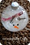 DIY Christmas:  Melted Snowman Ornament