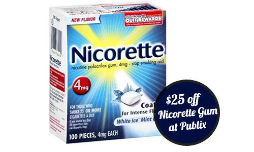 picture relating to Nicorette Printable Coupon named Fresh Nicorette Coupon + Retailer Coupon, Can make it $25 off at