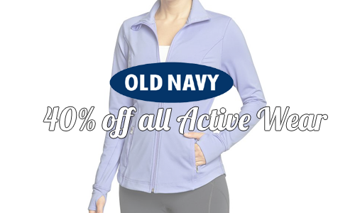 old navy 40 off active wear