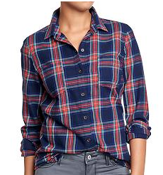 old navy women flannel shirts