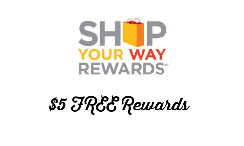 shop your way rewards 5 free