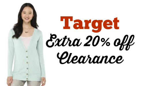 target extra 20 off clearance