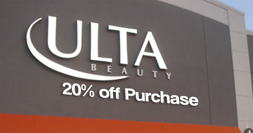ulta coupon 20 off