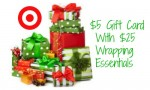 Target Coupon   $5 Gift Card wyb $25 In Wrapping Essentials