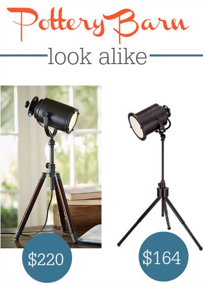Pottery Barn Photographers Tripod Lamp Look Alike