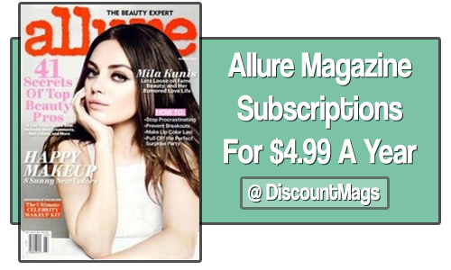 allure magazine subscription copy