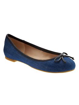 Ashley Bow Ballet Flat - Medblue/imperial blue