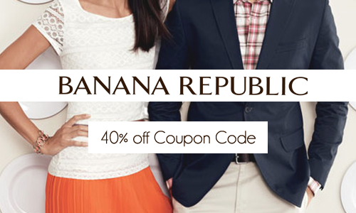 banana republic 40 off code