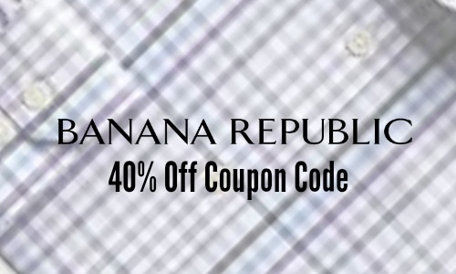 Banana Republic 40% Off Sale