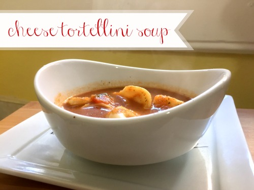 This recipe for cheese tortellini soup is easy, yummy, and great for cold nights.