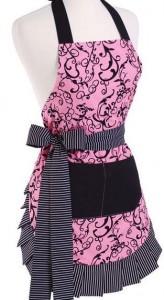 chic pink apron