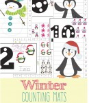 FREE Printable Winter Counting Mats For Kids