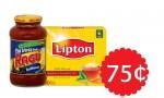 CVS Extra Deal   Ragu Pasta Sauce + Lipton Tea, 75¢