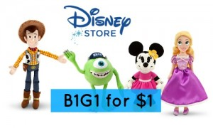 disney store deal plush toys
