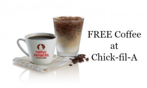 free coffee at chick-fil-a