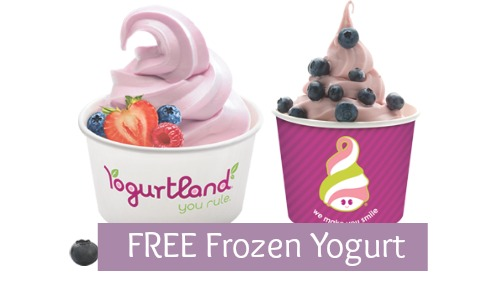 free frozen yogurt