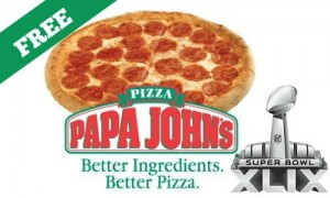 free papa johns pizza super bowl
