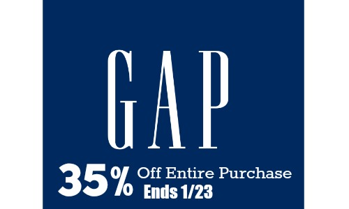 gap coupon code 35 off