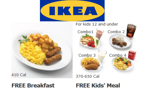 ikea family free breakfast or kids meal southern savers