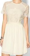 lace gathered dress