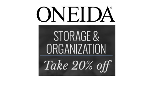 oneida sale 20 off storage