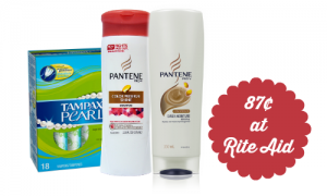 rite aid deal pantene and tampax