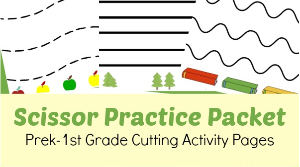 Free Prek1st Grade Scissor Practice Worksheets Southern Savers. Scissor Printable. Worksheet. 1st Grade Practice Worksheets At Clickcart.co