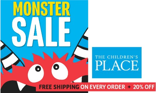The Children's Place has regular free shipping promotions on their website. During one of these promotions, you will find the The Children's Place coupon code free shipping at the top of their homepage, along with the other details about the promotion%().