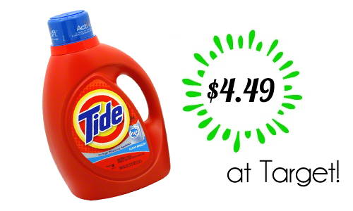 tide laundry detergent target deal